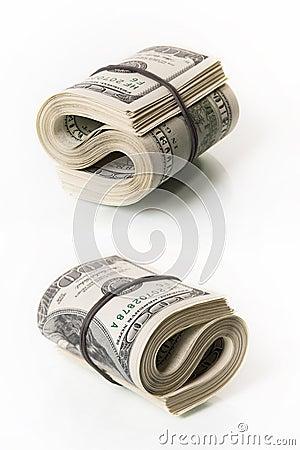 Bundel van dollarrekeningen