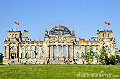 Bundestag in Berlin Stock Photo