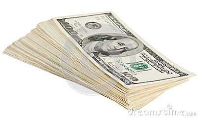 Bundle of dollar banknotes