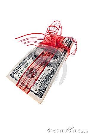 A bundle of dollar bills