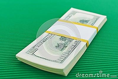 Bundle of hundred dollar bills