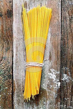 Bundle of Italian spahgetti pasta