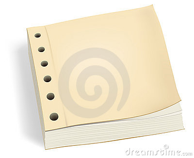 Bundle of paper with holes or ledger book