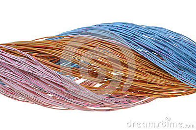 Bundle of pastel cables
