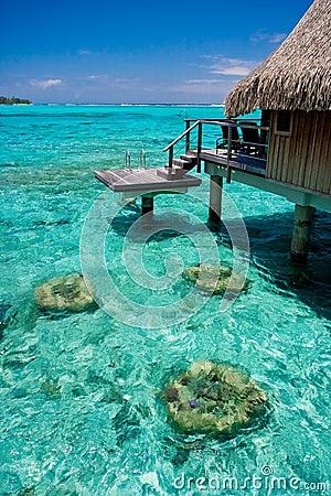 Free Bungalow Overwater Resort Stock Photos - 12059043