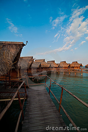 Bungalows in a romantic resort