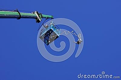 άλτης bungee Εκδοτική Στοκ Εικόνα