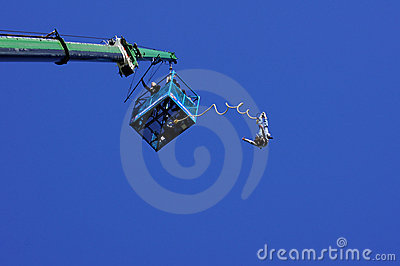 Bungee Jumper Editorial Stock Image