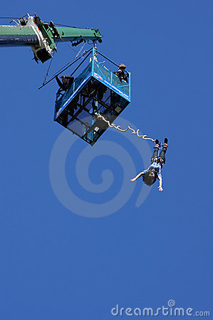 Bungee Jumper Editorial Stock Photo
