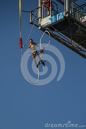 Bungee jumper Editorial Photo