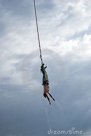 Bungee Jumper soaked