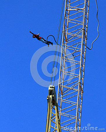 Bungee jumper Editorial Photography