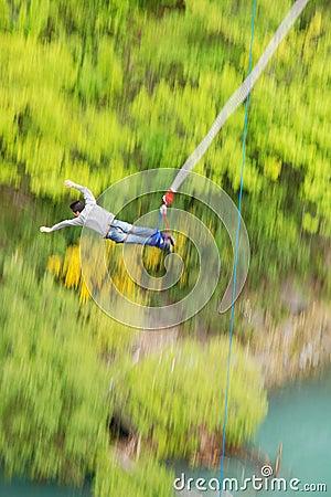 Free Bungy Jump Off Kawarau Bridge Royalty Free Stock Image - 2800336