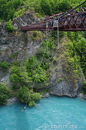 Bungy jumping in New Zealand Editorial Photo
