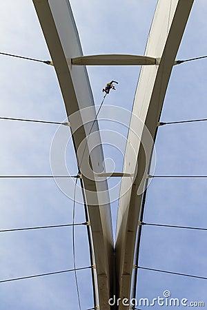 Bunjee Jumping Stadium Extreme Rush Editorial Image