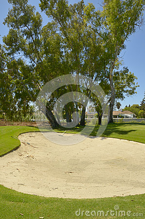 Bunker in golf course