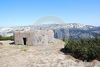 Bunker in Krkonose mountains