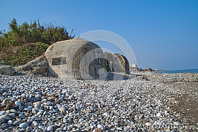 Bunkers on the beach