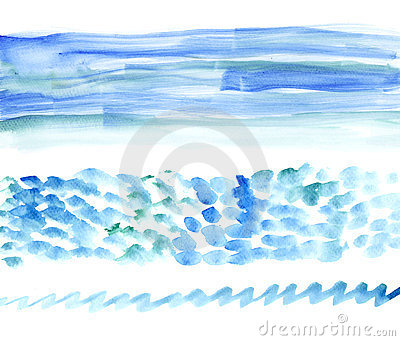 Bunners del watercolour del mare