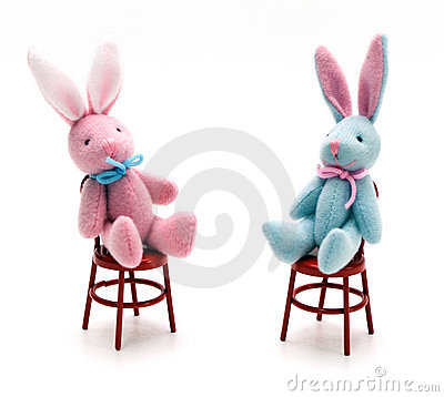 Bunnies on Chairs