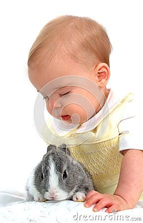 Free Bunny And Boy Royalty Free Stock Photo - 4732115