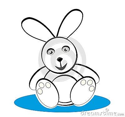 Bunny in black & white
