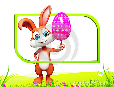 Bunny with colouring egg