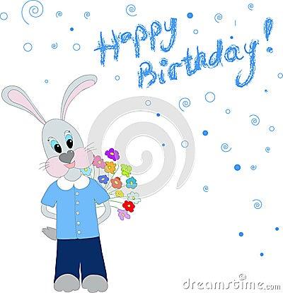 Bunny congradulates Happy Birthday