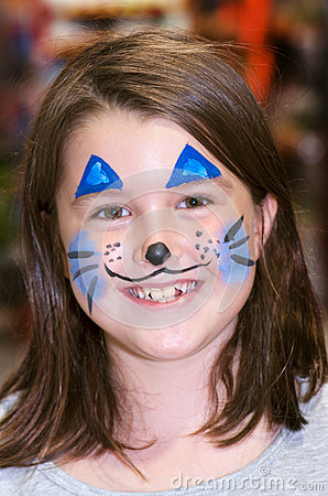 Free Bunny Face Painting Stock Photo - 29983230