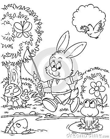 Free Bunny Fisher Stock Photo - 15018130