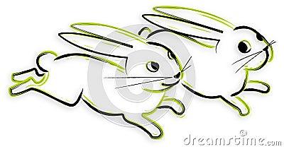 Bunny - hand drawn