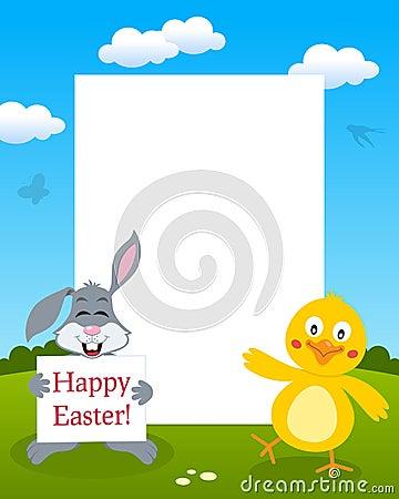 Bunny Rabbit & Chick Photo Frame