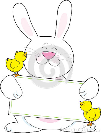 Free Bunny Sign Stock Photography - 30608082