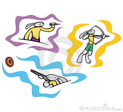 Bunny sport illustrations