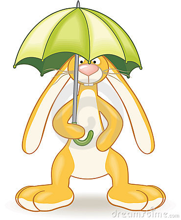 Bunny with umbrella