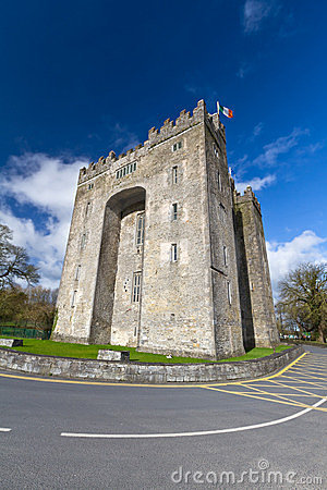 Bunratty castle in sunny day