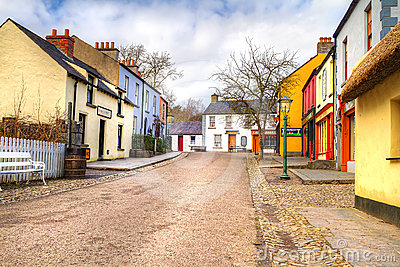 Bunratty cottage town Editorial Stock Image