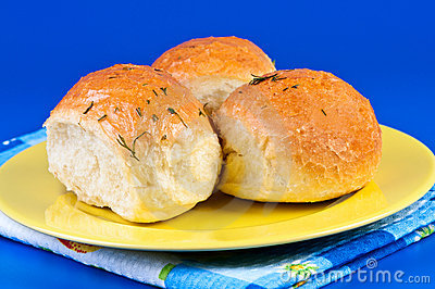 Buns with garlic.
