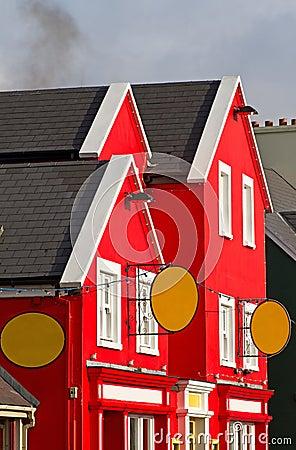 Bunte irische Architektur