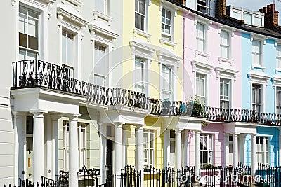 bunte london h user im primelh gel stockfoto bild 61815067. Black Bedroom Furniture Sets. Home Design Ideas