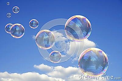 Bunte Seifen-Luftblasen
