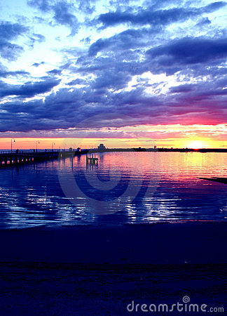 Bunter Sonnenuntergang, Australien