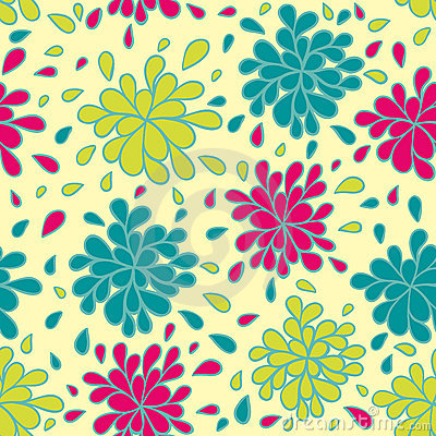 Buntes nahtloses mit Blumenmuster