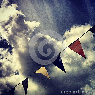 Bunting with Clouds