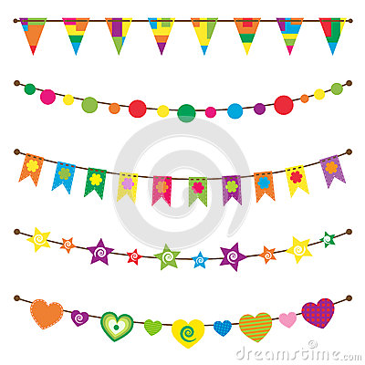 Bunting flags  set