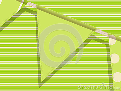 Bunting on a green background