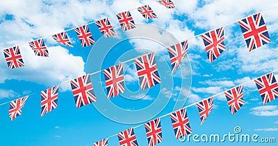 Bunting van de Vlag van de Unie