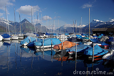 Buochs Marina on Lake Lucerne