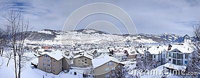 Buochs town in winter