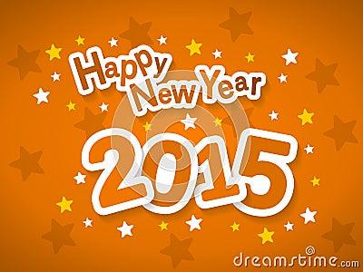 Illustrazione 2015 di vettore della cartolina d'auguri del buon anno